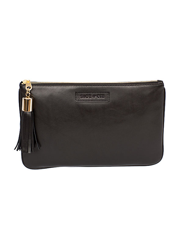Black Leather Pouch
